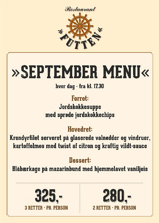 Futten menu