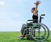 In Ferienhaus mit Rollstuhl