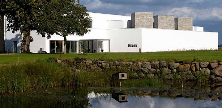Det smukt beliggende Fuglsang Kunstmuseum / Fuglsang Kunstmuseum
