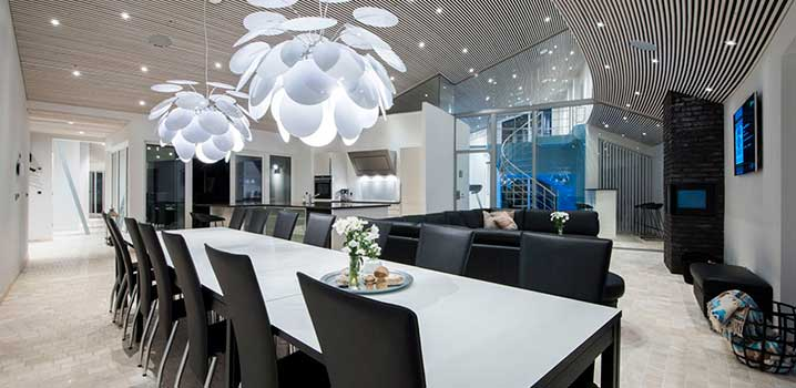 Alrummet i et af vores eksklusive luksussommerhuse