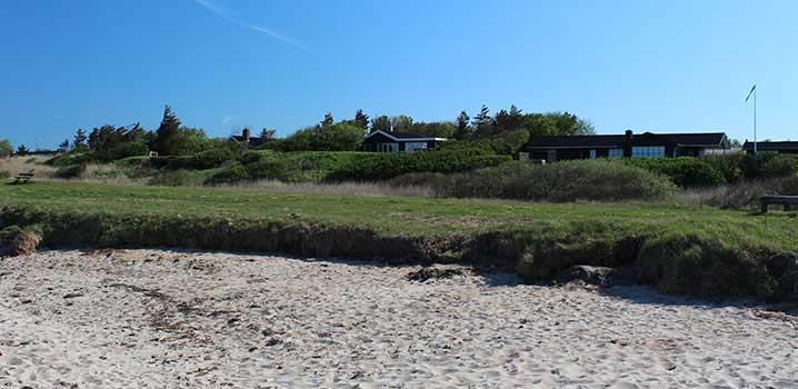 Ferienhaus mit Ausblick auf den Strand