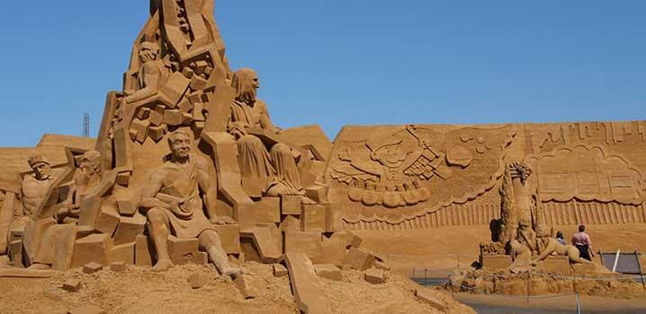 Soendervig sandskulptur kunst