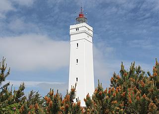 The 39 metres high lighthouse Blåvandshuk Fyr on the westernmost point of Jutland