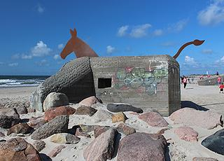Mule bunker on the beach of Blåvand