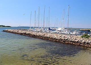 Den hyggelige lystbådehavn i Falsled ved det Sydfynske Øhav