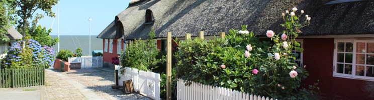 Fanø, Nordby byder på idylliske huse og brostensbelagte gader
