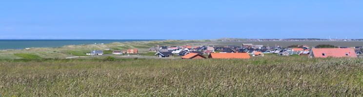 Sommerhusområdet Ferrig mellem Vesterhavet og Ferring Sø
