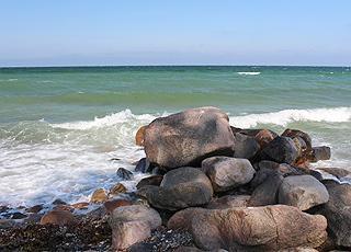 Klart badevand ved ferieområdet Fyns Hoved