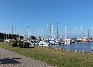 Den hyggelige lystbådehavn i ferieområdet Gedser