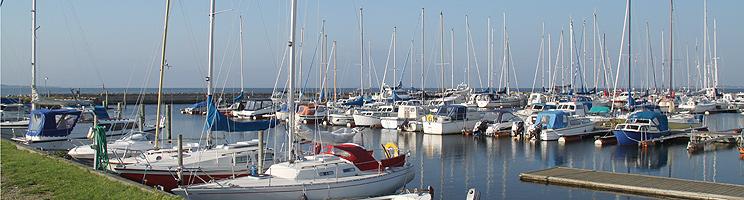 Den hyggelige lystbådehavn i Limfjordsbyen Gjøl