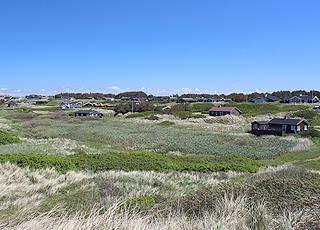 Sommerhuse i klitterne ved Grønhøj Strand