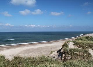 Den skønne badestrand syd for Hanstholm