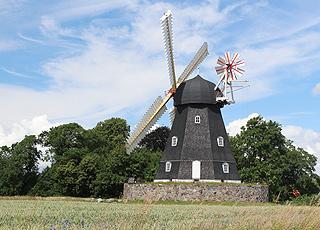 Die idyllische Mühle Grubbe Mølle beim Urlaubsgebiet Horne