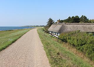 Den lange Østersøsti, som fører gennem Hummingen og langs sydkysten af Lolland