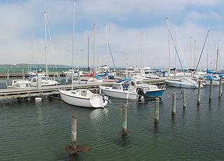 Hyggelig lystbådehavn ved siden af Nordstranden i Kerteminde
