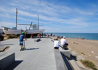 Aktivitet ved stranden i Klitmøller