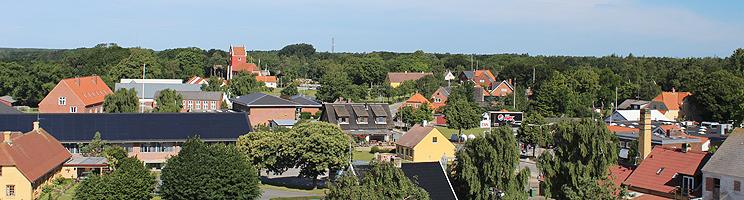 Aussicht vom Læsø-Turm über Byrum und die grüne Umgebung