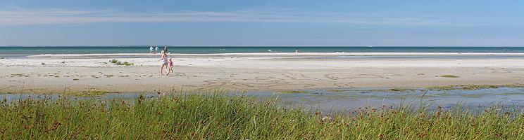Bei Vesterø Syd können  Sie einen schönen Sandstrand mit seichtem,  kinderfreundlichem Wasser genießen