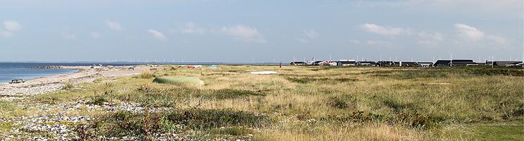 Die Ferienhäuser in Lendrup liegen hinter der Küste des Limfjordes