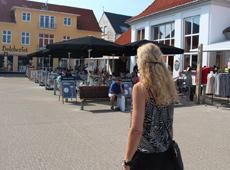 The square in Løkken with brewhouse and hard candy maker
