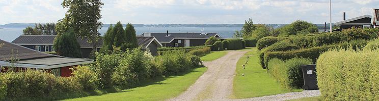 Sommerhusområdet i Rendbjerg med udsigt over Flensborg Fjord