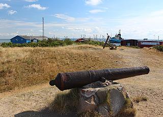 Historiske kanoner fra Trediveårskrigen befinder sig ved havnen i Havneby
