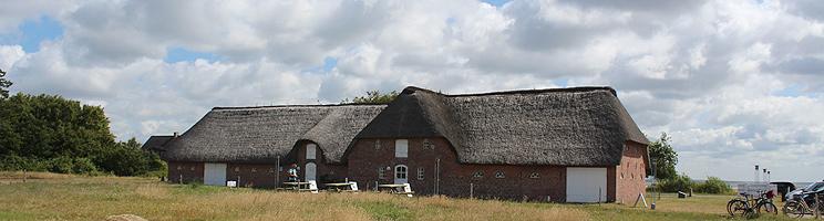 Naturcenter Tønnisgård er indrettet i en stråtækt kommandørgård i Rømø, Kongsmark