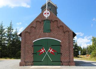 Rømøs gamle redningsstation, der i dag fungerer som brandstation, ligger lige ved Rømø, Vesterhede