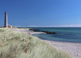 Stranden ved Skagen fyr i Østerby