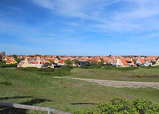 Udsigt over Skagens røde tage fra Vippefyret i Østerby