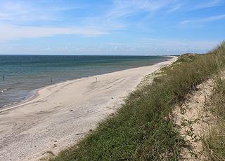 Stranden i den sydlige del af Skagen Vesterby