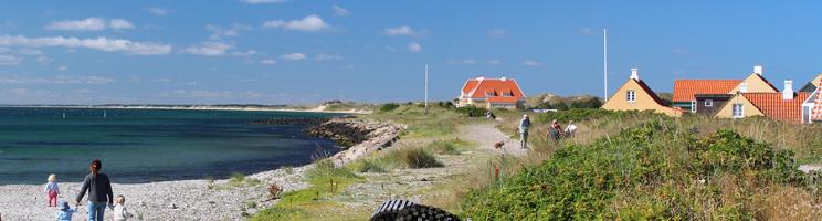 Strand og sti langs havet i Skagen Vesterby