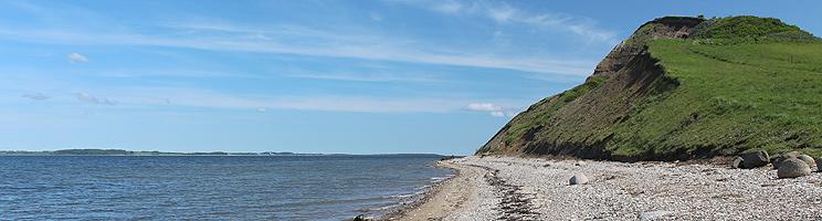 Den 60 meter høje Hanklit i sommerhusområdet Sundby, Mors