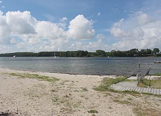 Udsigt mod Tåsinge fra Christiansminde Strand i Svendborg