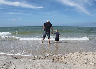 Schönes Badewasser am Strand von Svinkløv