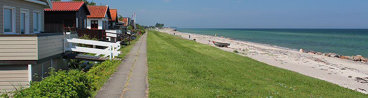 Holiday homes along the lovely bathing beach in the holiday area Tørresø on North Funen