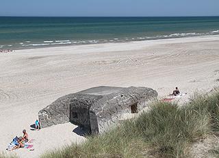 Bunker am Strand von  Tranum