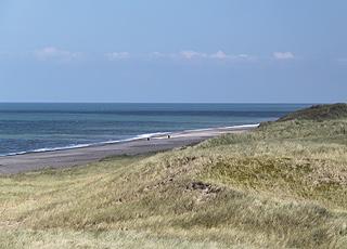Strand, Vesterhav og klitlandskab ved Vangså