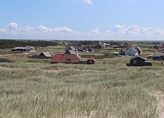 Sommerhusene i Vrist er omgivet af skov og strand