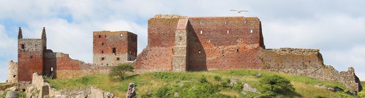 Hammershus auf der Nordspitze von Bornholm ist die größte Burgruine Nordeuropas
