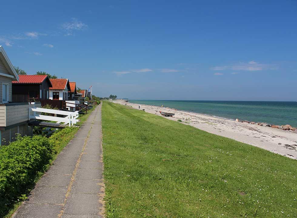 Sommerhuse ved den lange, børnevenlige badestrand i Tørresø på Nordfyn