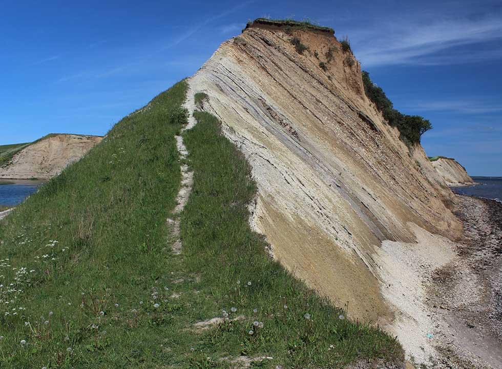 Imponerende molerklint ved Ejerslev på Mors