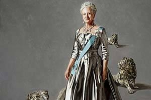 Porträtt av Drottning Margrethe II.