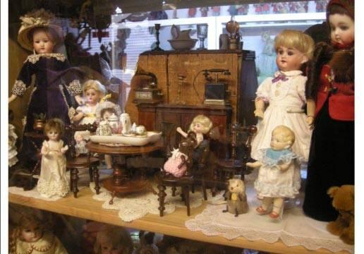 Dolls at a tea party