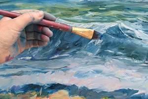 Susanne Mainsøe maler et bilde