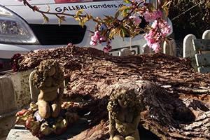 De auto parkeert voor Galerie Randers