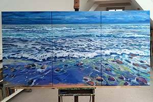 Maleri med hav