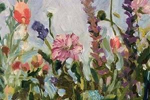 Parti med blomster