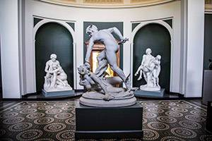 Sculpture in a room