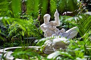 Sculpture in fountain